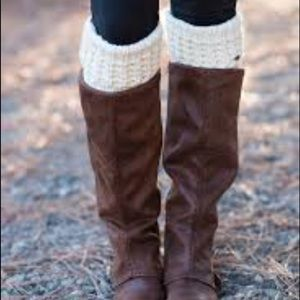 Wool knit boot cuffs